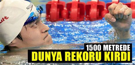 1500 metrede dünya rekoru kırdı