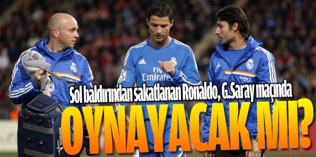 Ronaldo, G.Saray maçında oynayacak mı?