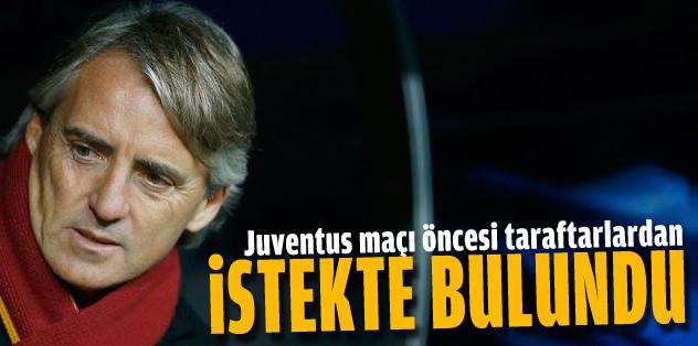 Mancini taraftardan destek istedi