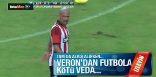 Veron'dan futbola k�t� veda