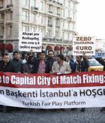 Trabzon'dan UEFA protestosu