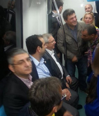 Aziz Y�ld�r�m Marmaray'da