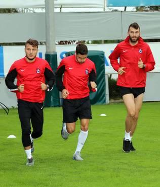 Trabzonspor'da Lokeren haz�rl�klar�