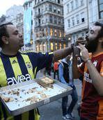 Taksim'de bedava derbi baklavas�