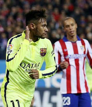 Neymar Atletico'yu Bar�a'lad�