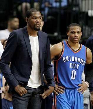 Kevin Durant sezonu kapatt�