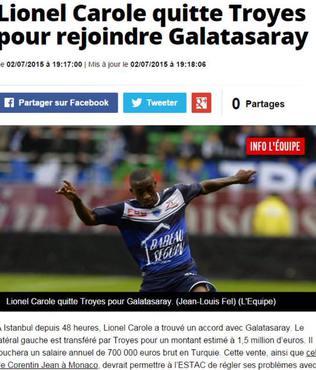 Frans�z sol bek Galatasaray'da