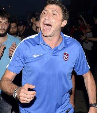 Trabzonspor'a havaalan�nda kar��lama