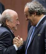 �nce Platini sonra Blatter...