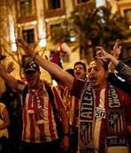 Atletico Madrid taraftar�n�n final sevinci