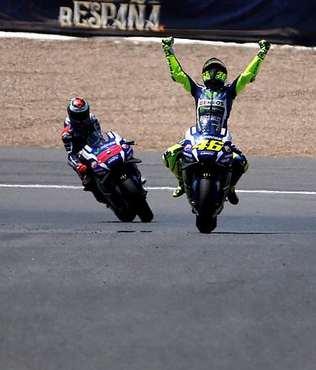 MotoGP'de heyecan Fransa'da s�recek