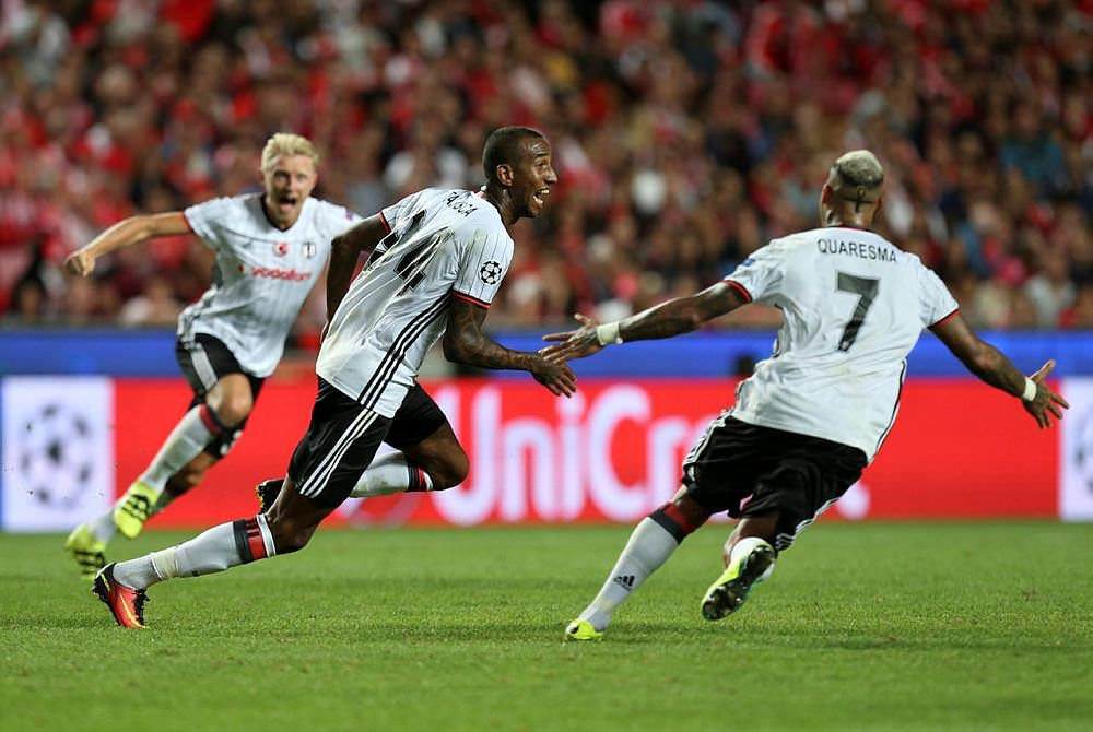 Benfica - Be�ikta� maç�ndan kareler