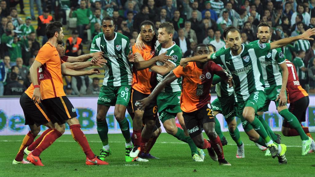 Bursaspor-G.Saray maç�nda kareler