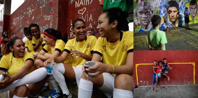 Brezilya sokaklar�nda futbol