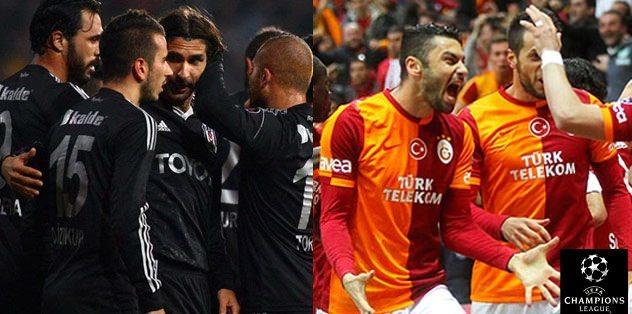 Galatasaray ve Be�ikta�'a Devler Ligi'nde �ok oran