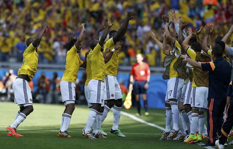 Kolombiya'n�n ilginç gol sevinci