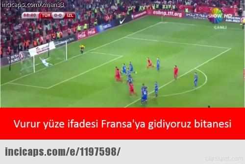 Türkiye - İzlanda caps'leri