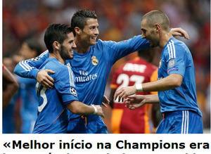 Galatasaray - Real Madrid ma��n�n d�� bas�na yans�malar�