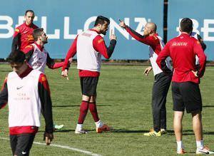 Galatasaray antrenman�ndaki gergin anlardan kareler