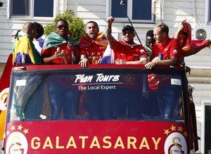 Galatasaray'da �ampiyonluk kutlamalar� ba�lad�