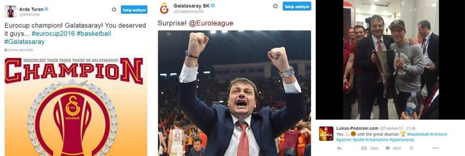 G.Saray'ın zaferi sosyal medyayı salladı