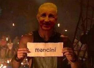 Mancini vedas� caps konusu oldu