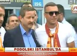 Podolski, �stanbul'da! ��te ilk g�r�nt�ler...