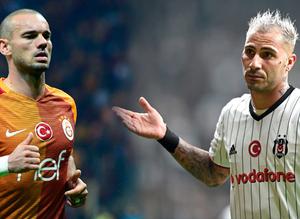Sneijder ve Quaresma kavga eder!
