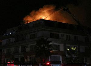 G.Saraylı futbolcunun oturduğu rezidansta yangın