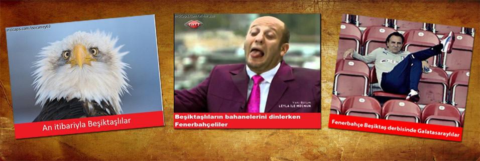 Be�ikta�-Fenerbahçe caps'leri