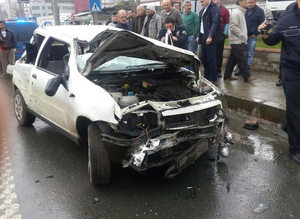 Trabzonlu futbolcu b�y�k tehlike atlatt�