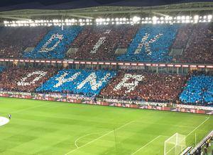 Trabzonspordan muhteşem koreografi
