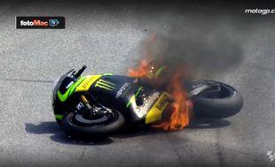 Moto GP'de g�r�lmez kazalar