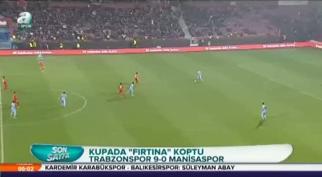 Trabzonspor gol oldu ya�d�: 9-0