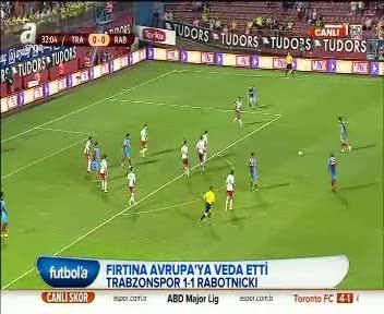 Trabzonspor 1-1 Rabotnicki (�ZET)