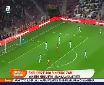 Sneijder'e zam
