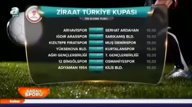 T�rkiye Kupas� heyecan� ba�l�yor