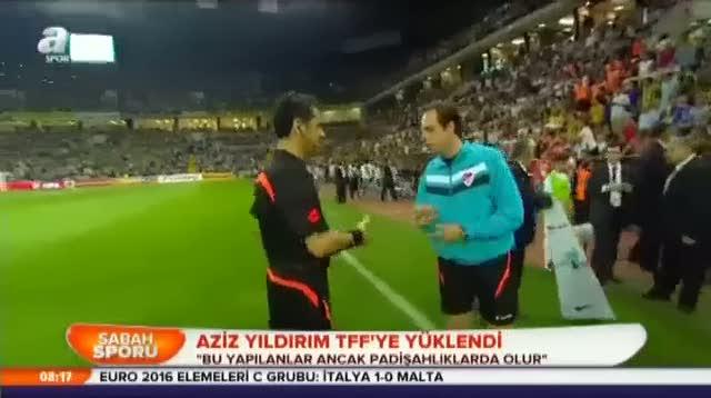 Aziz Y�ld�r�m TFF'ye y�klendi