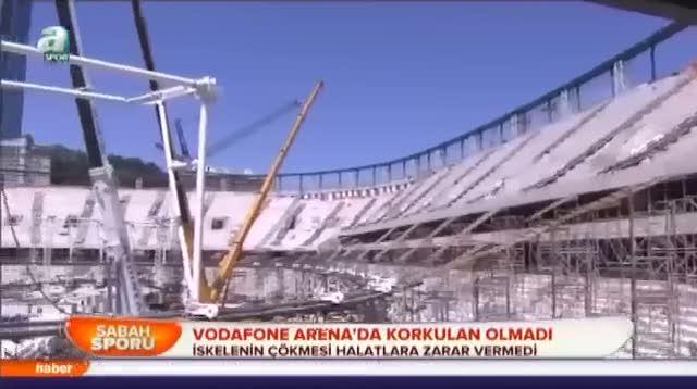 Vodafone Arena'da korkula olmad�