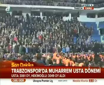Trabzonspor'un yeni ba�kan� Muharrem Usta
