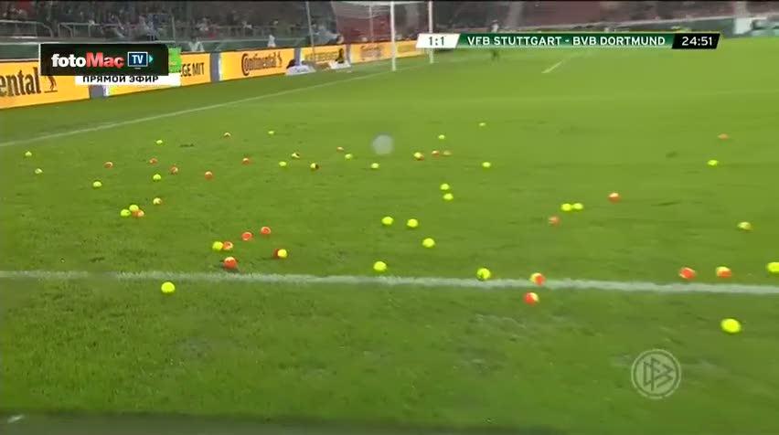 B.Dortmund taraftar�ndan ilgin� protesto