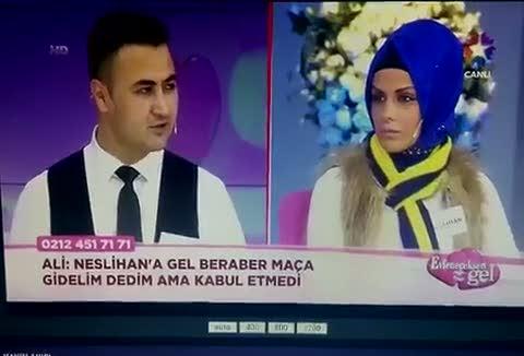 Evlenme program�na damga vuran Be�ikta� & F.Bah�e at��mas�
