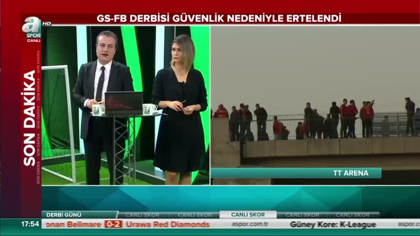 Galatasaray - Fenerbah�e derbisi ertelendi