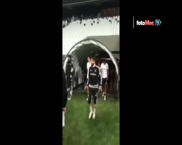 Be�ikta�, Vodafone Arena'da ilk antrenman�n� yapt�