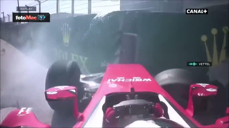 Formula 1 pilotu k�f�rler ya�d�rd�