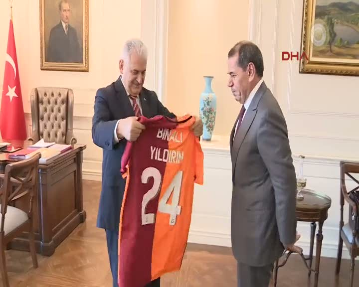 Ba�bakan Y�ld�r�m, G.Saray Ba�kan� Dursun �zbek'i kabul etti
