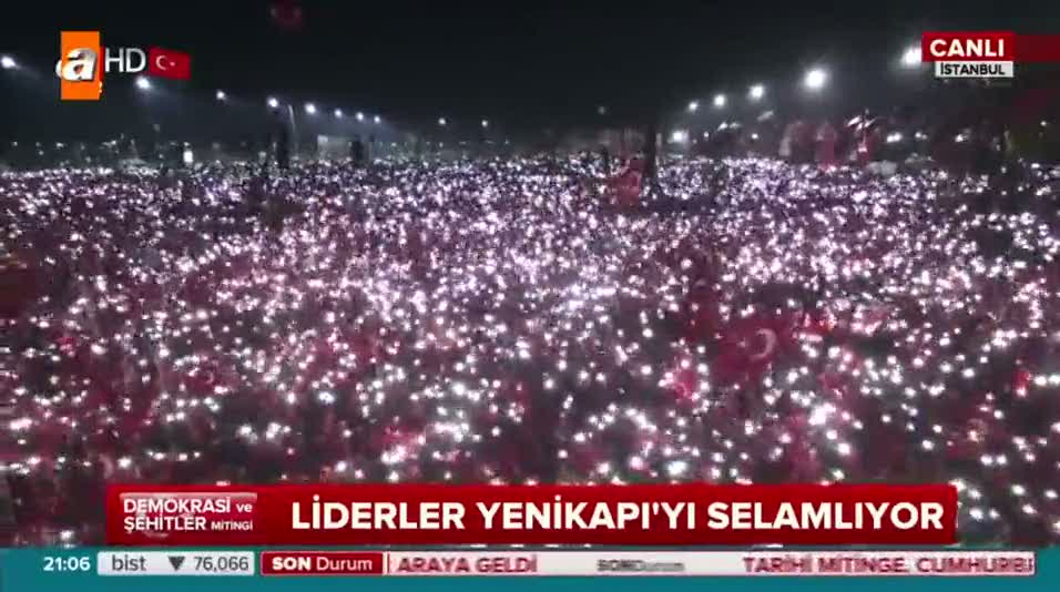 Yenikapı'da muhteşem şov