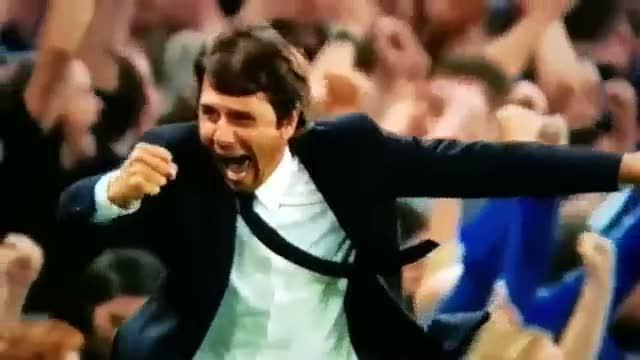 Conte'nin West Ham ma��ndaki gol sevinci