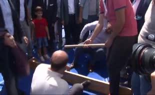 Erdoğan ile Yerlikaya mas güreşi yaptı