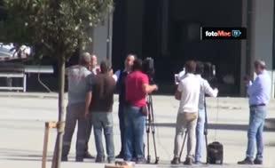 Akyazı Stadı'nda canlı yayın gerginliği